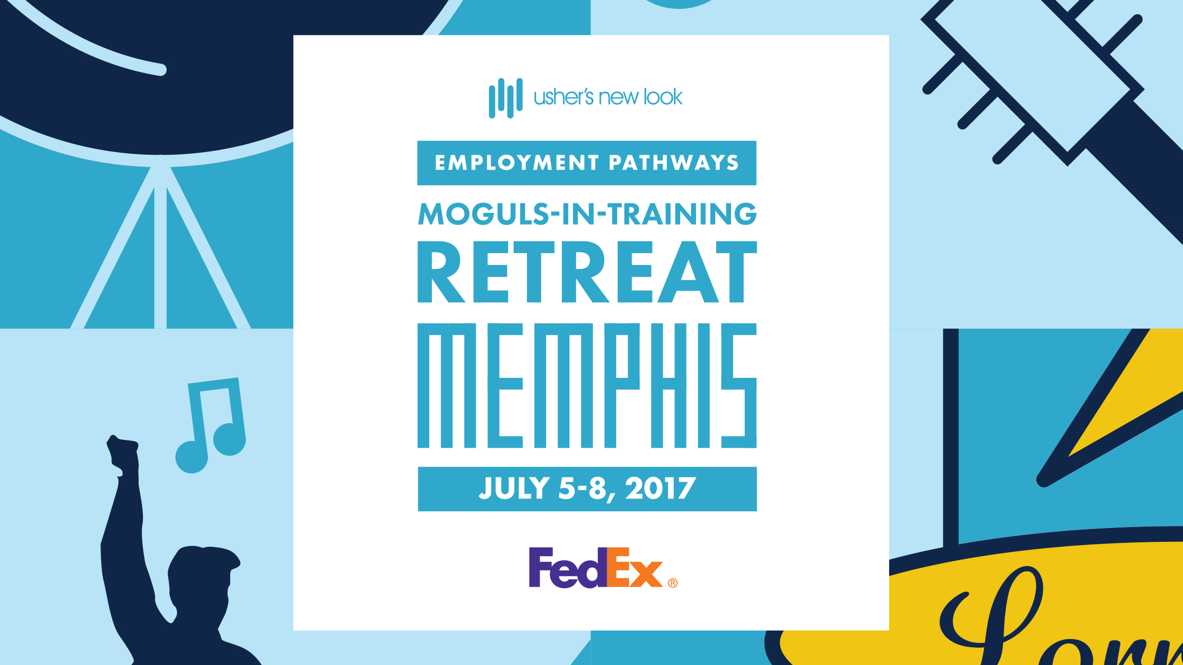 FedEx + MIT Retreat - Created identity with signage and shirt designs that reflected the culture and history of Memphis.