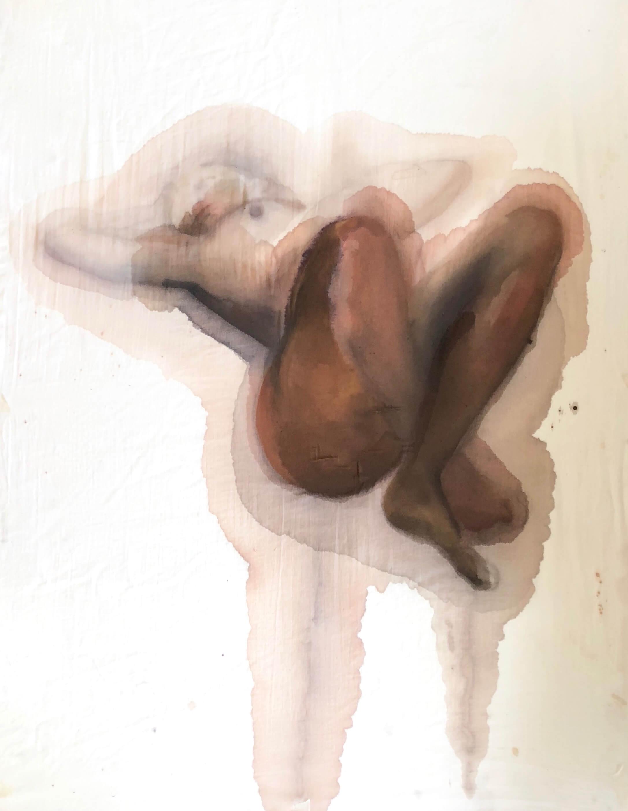 Sandy Feet  Watercolour on muslin  100 x 77cm  £2800   emponsonby@gmail.com