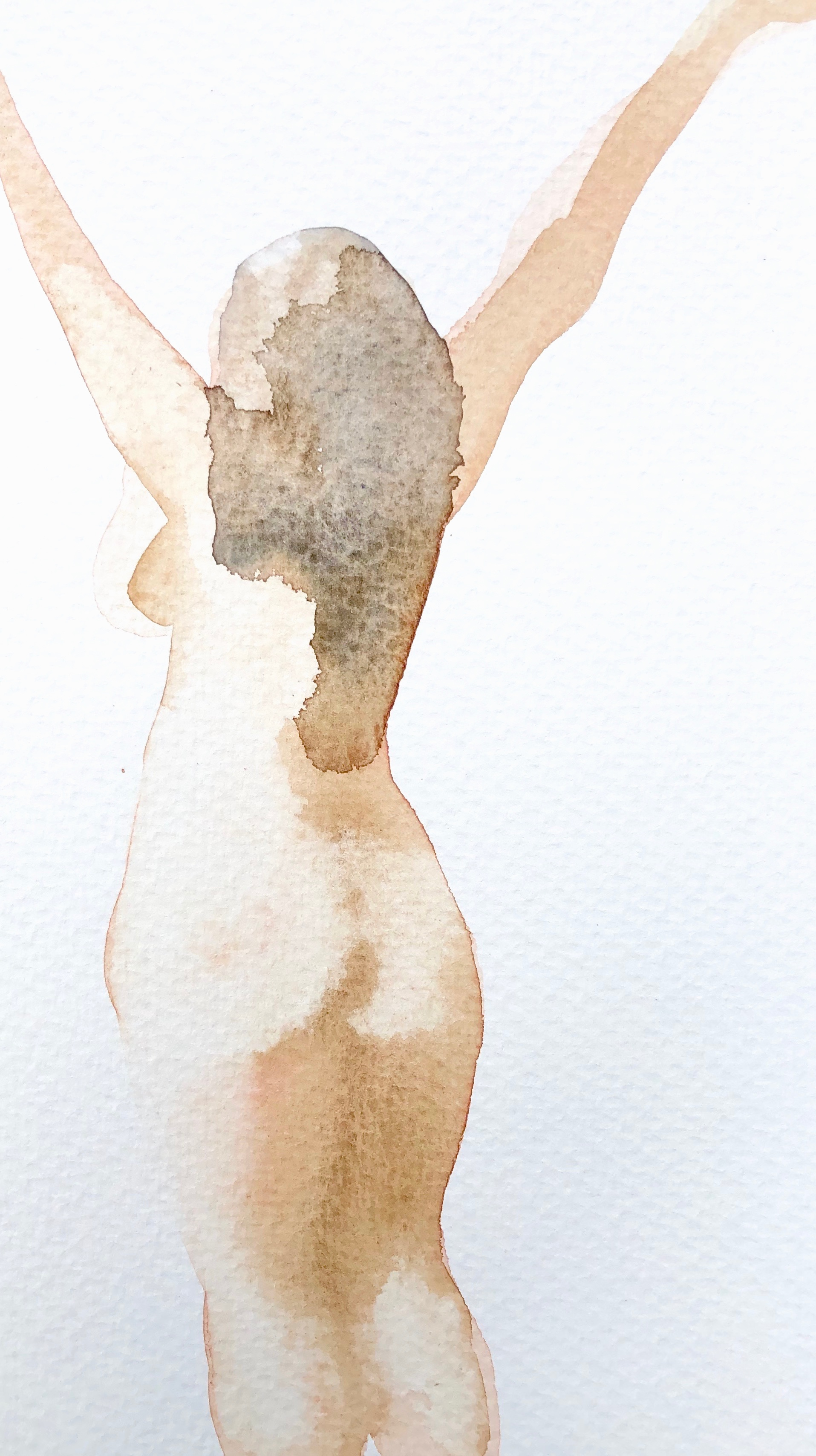 Joy 9  Watercolour on paper  21 x 12cm  SOLD   emponsonby@gmail.com