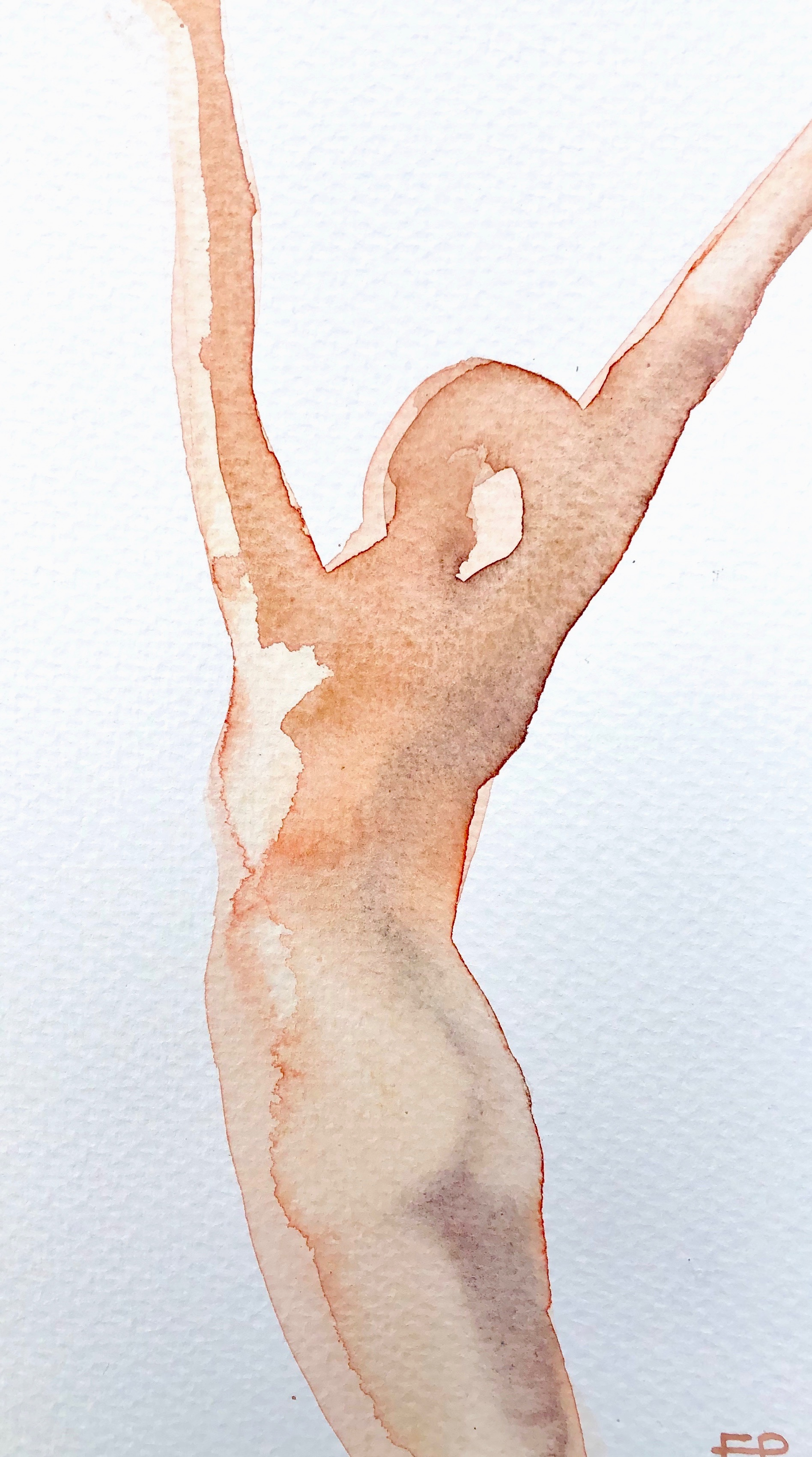Joy 10  Watercolour on paper  21 x 12cm  SOLD   emponsonby@gmail.com