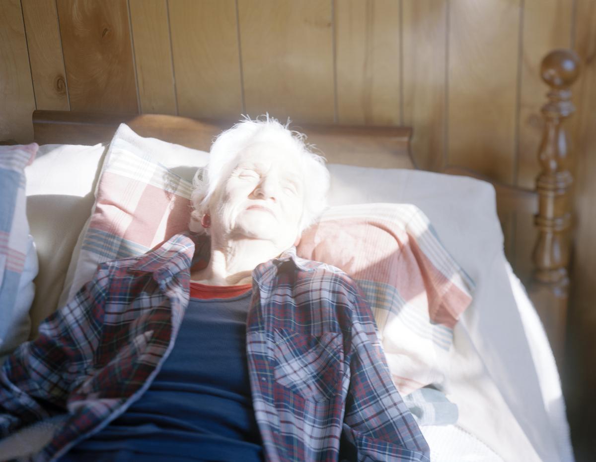 Grandma Sunbathing