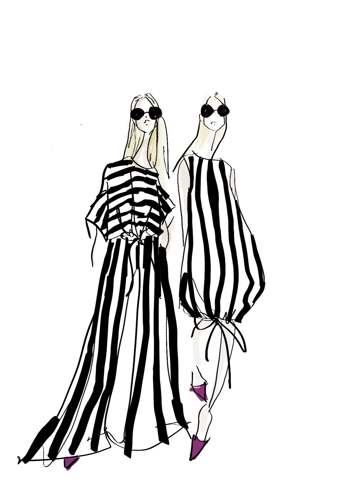 Stripes in the style of Jenny Walton