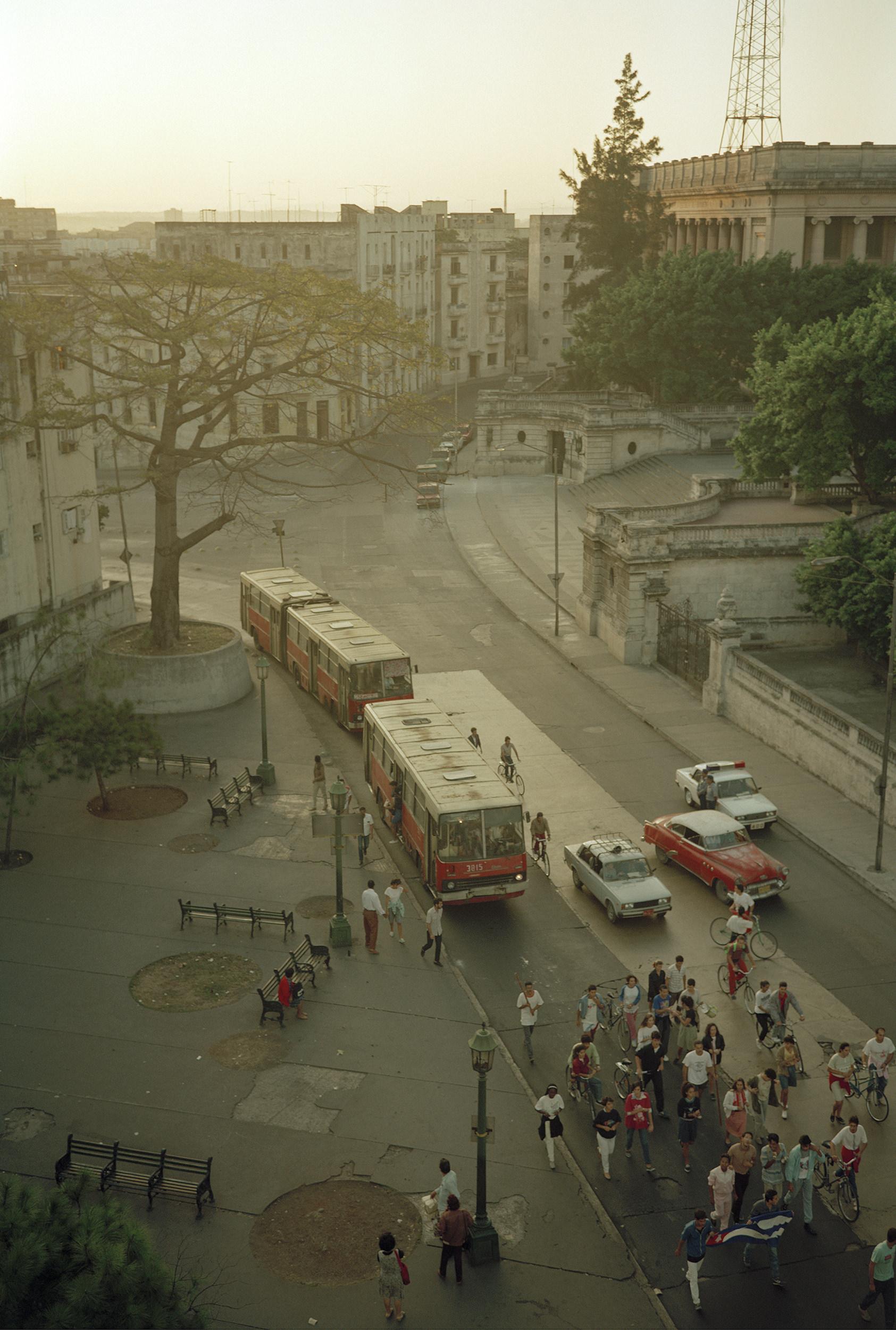 Bus Stop  March  Calle L, Havana
