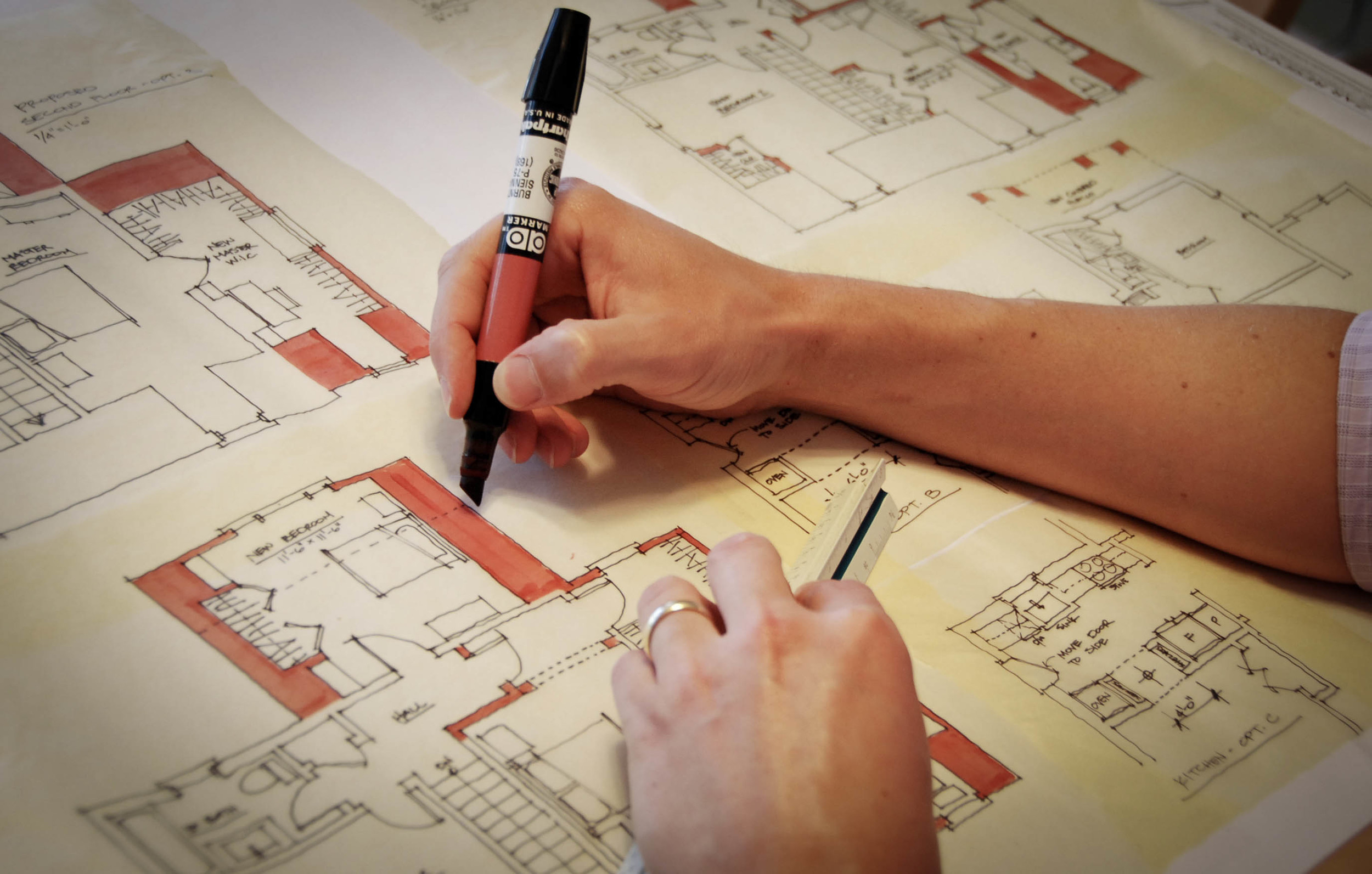 Schematic Design    Saul Architects will provide a series of sketches, drawings, models, etc. to describe the general design scheme. We will meet with the client throughout this process as necessary to review the drawings and incorporate client feedback.