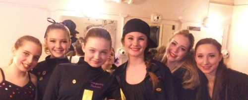 A  few of our Happy Competition Dancers backstage!