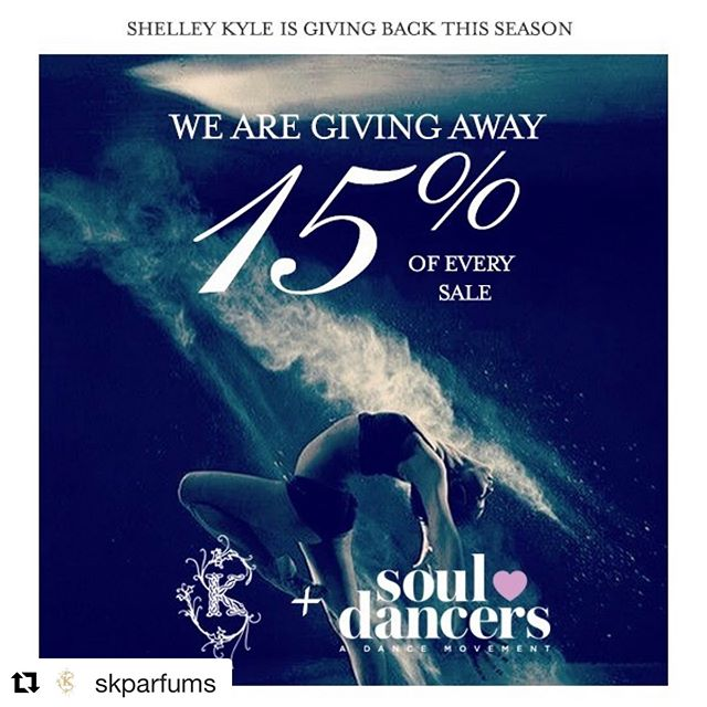 Thank you @skparfums for your support!🙌🏻💜 #Repost @skparfums with @get_repost ・・・ #charity #dance #giveback #holidaycheer #bettertogive @souldancerscharity we love what you are doing! #makeadifference #dancechallenge. 15% of every sale for the next 30 days will go to  Soul Dancers  YOUR PURCHASE CAN MAKE A DIFFERENCE IT WILL HELP FUND:  An after school programming for impoverished children including:  Fun instructional dance classes. English lessons. Feeding hungry children a healthy meal which includes a protein. And providing young woman with a sustainable monthly income.