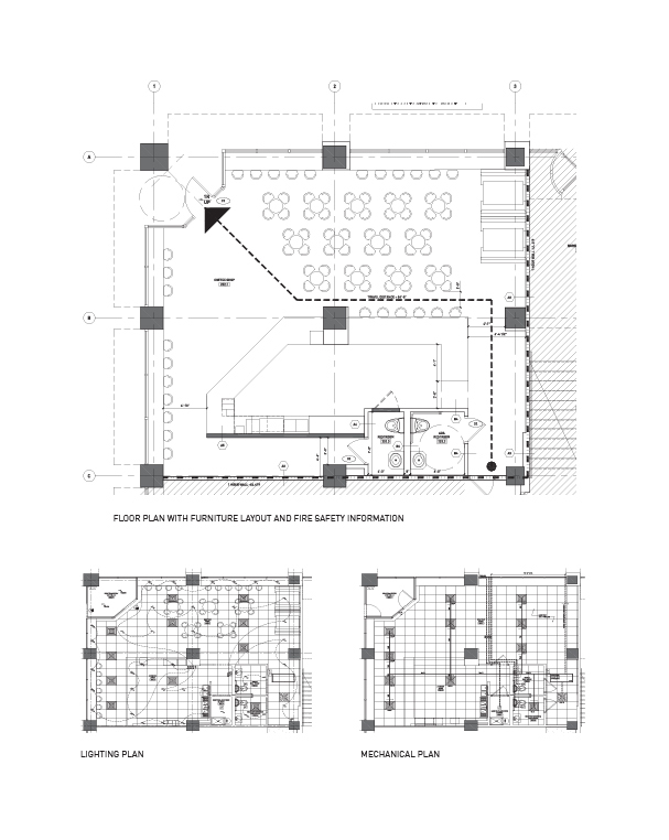 Floor Plan with Lighting and Mechanical Layouts
