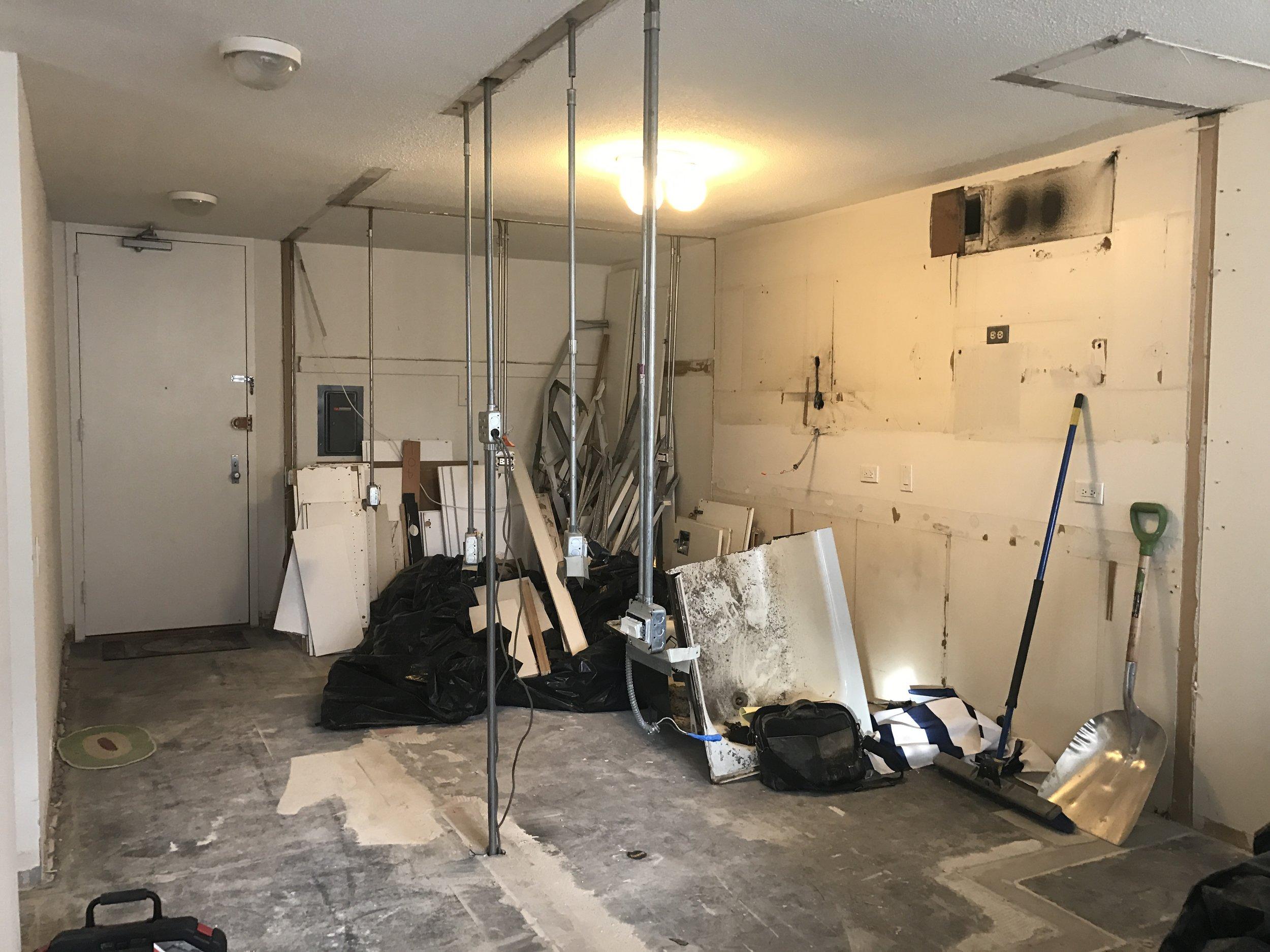 Kitchen: Post-Demolition