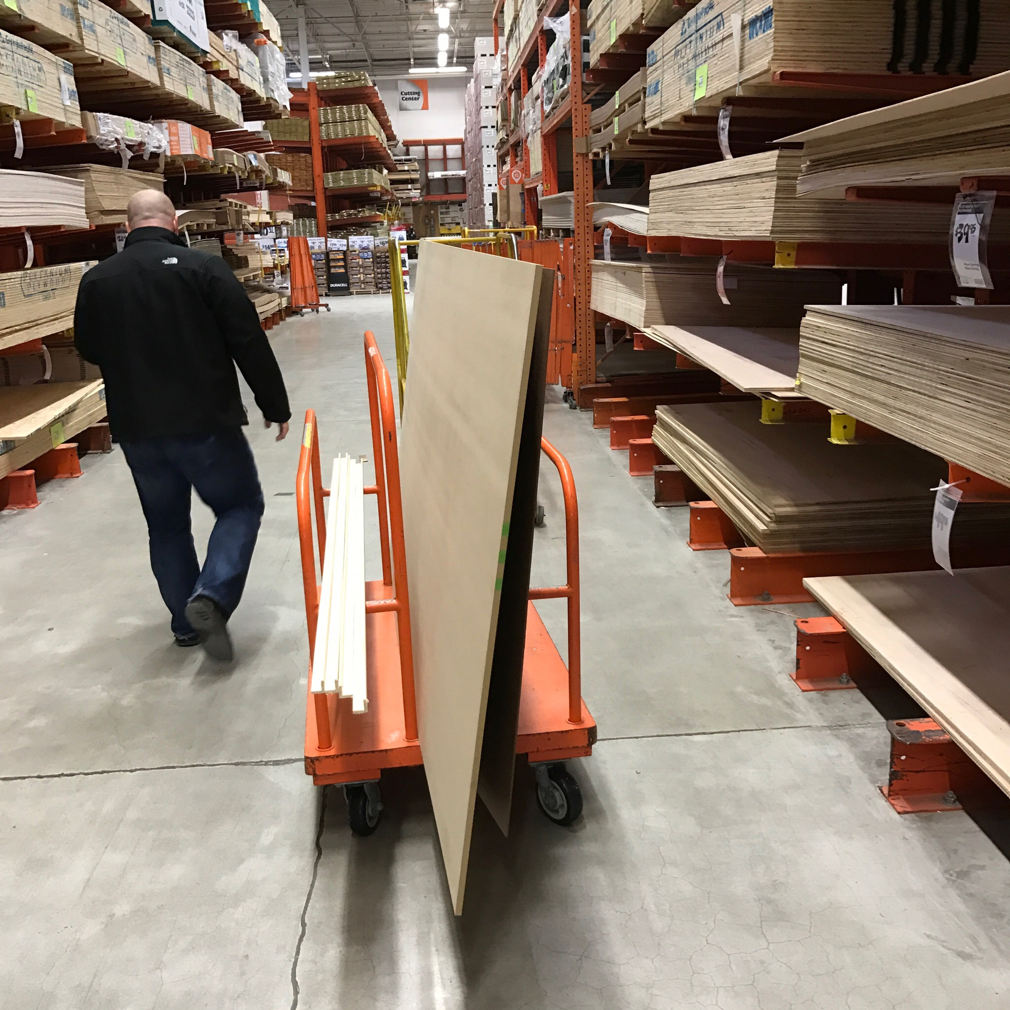 One of many obligatory trips to Home Depot