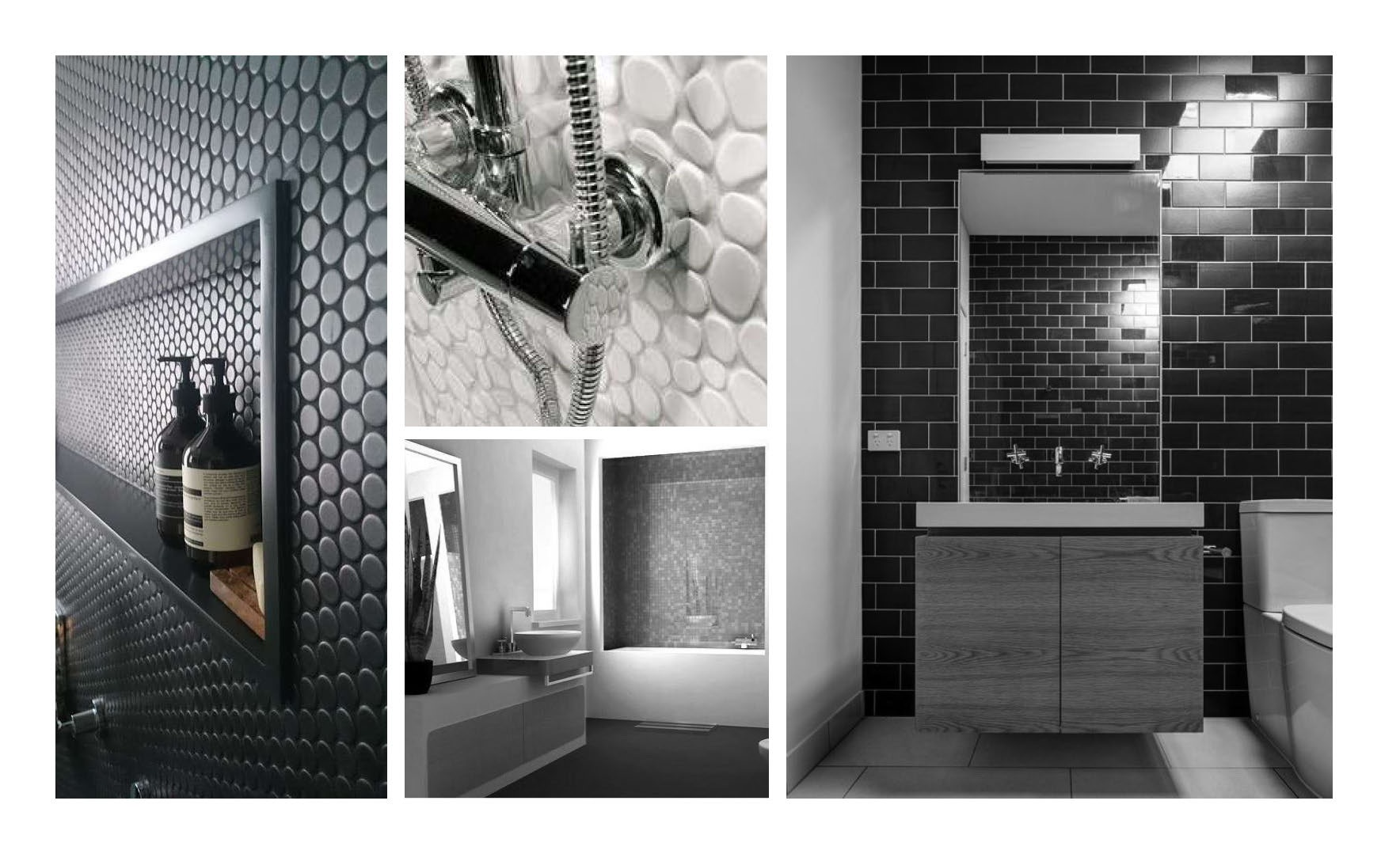 There is an interplay of carefully selected shapes, textures and sizes