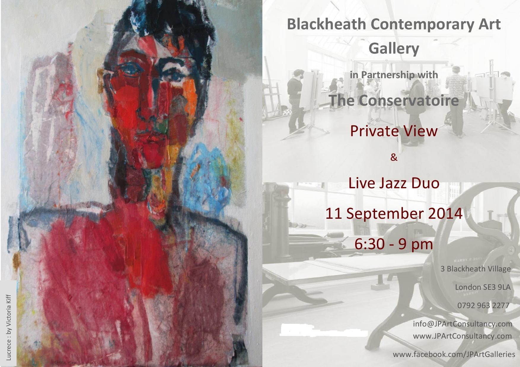 Private View Invitation- Blackheath Contemporary Art Gallery & The Conservatoire Sept 2014 (1).jpg