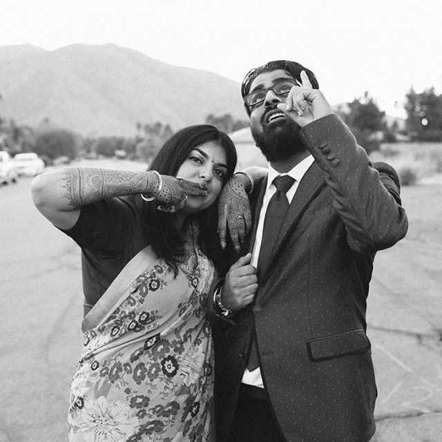 Personality meets portrait Photo: @radandinlove Venue: #galvanestate in Palm Springs . . . . #brideandgroom #sangeet #indianwedding #hinduwedding #palmsprings #palmspringswedding