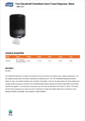 CLICK TO DOWNLOAD  Tork Centerfeed Dispenser 559028A  Brochure