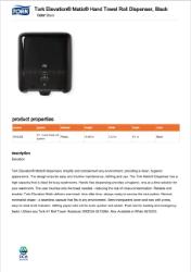 CLICK TODOWNLOAD Tork Matic Dispenser 5510282  Brochure
