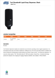 CLICK TODOWNLOAD  Tork Lotion Soap Dispenser 570028A Brochure