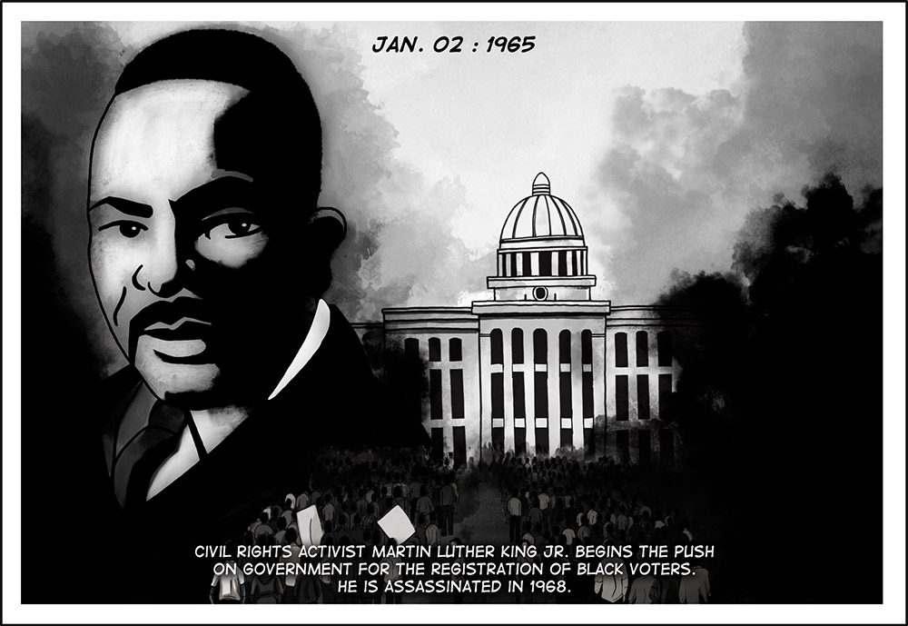 JANUARY 02, 1965: MARTIN LUTHER KING JR.