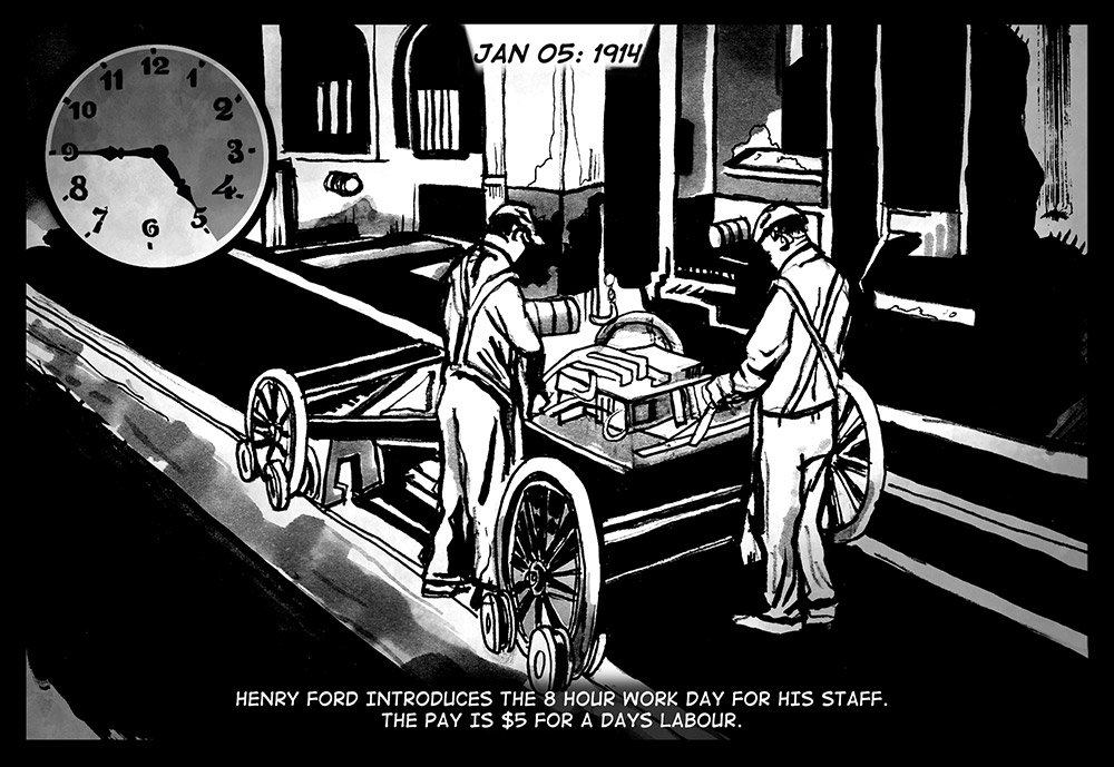 JANUARY 05, 1914: FORD WORKING HOURS