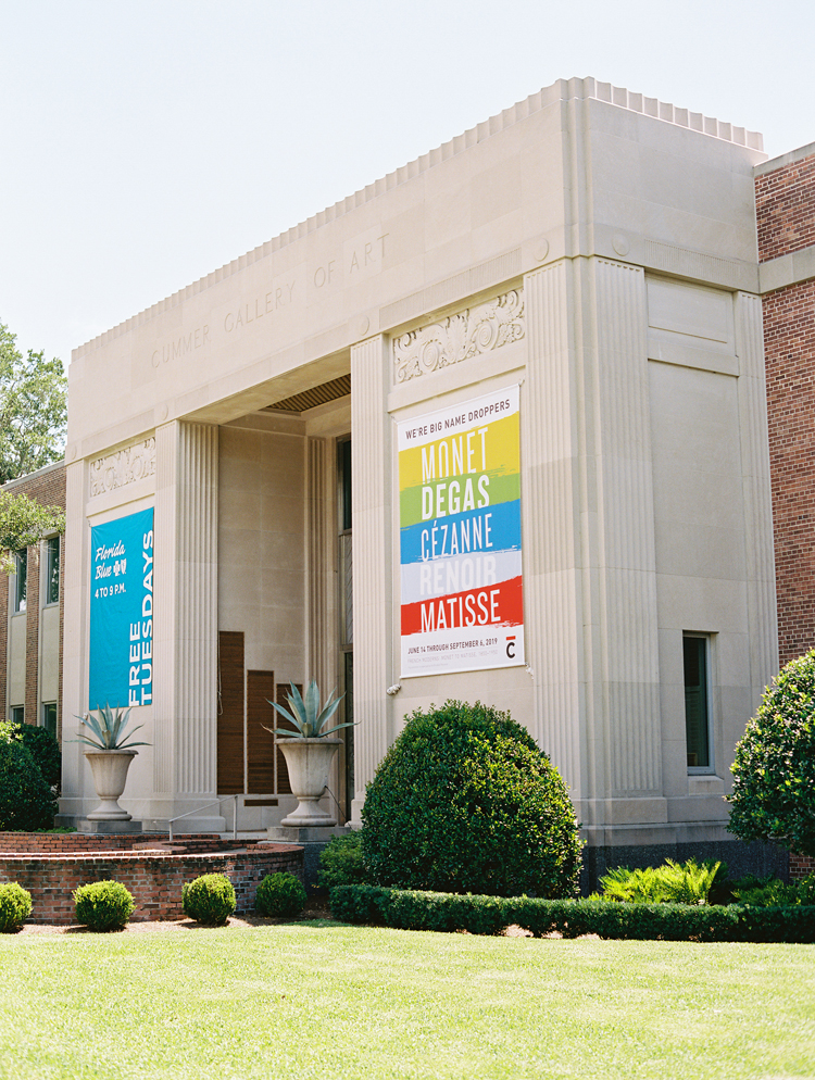 The historic front entrance at the Cummer Museum and Gardens