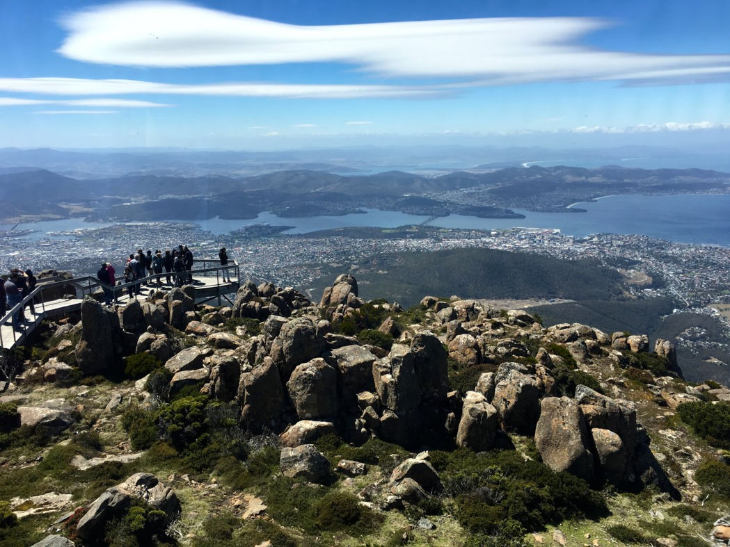 A beautiful view awaits those who climb Mount Wellington. Photo: Anders Buch-Larsen