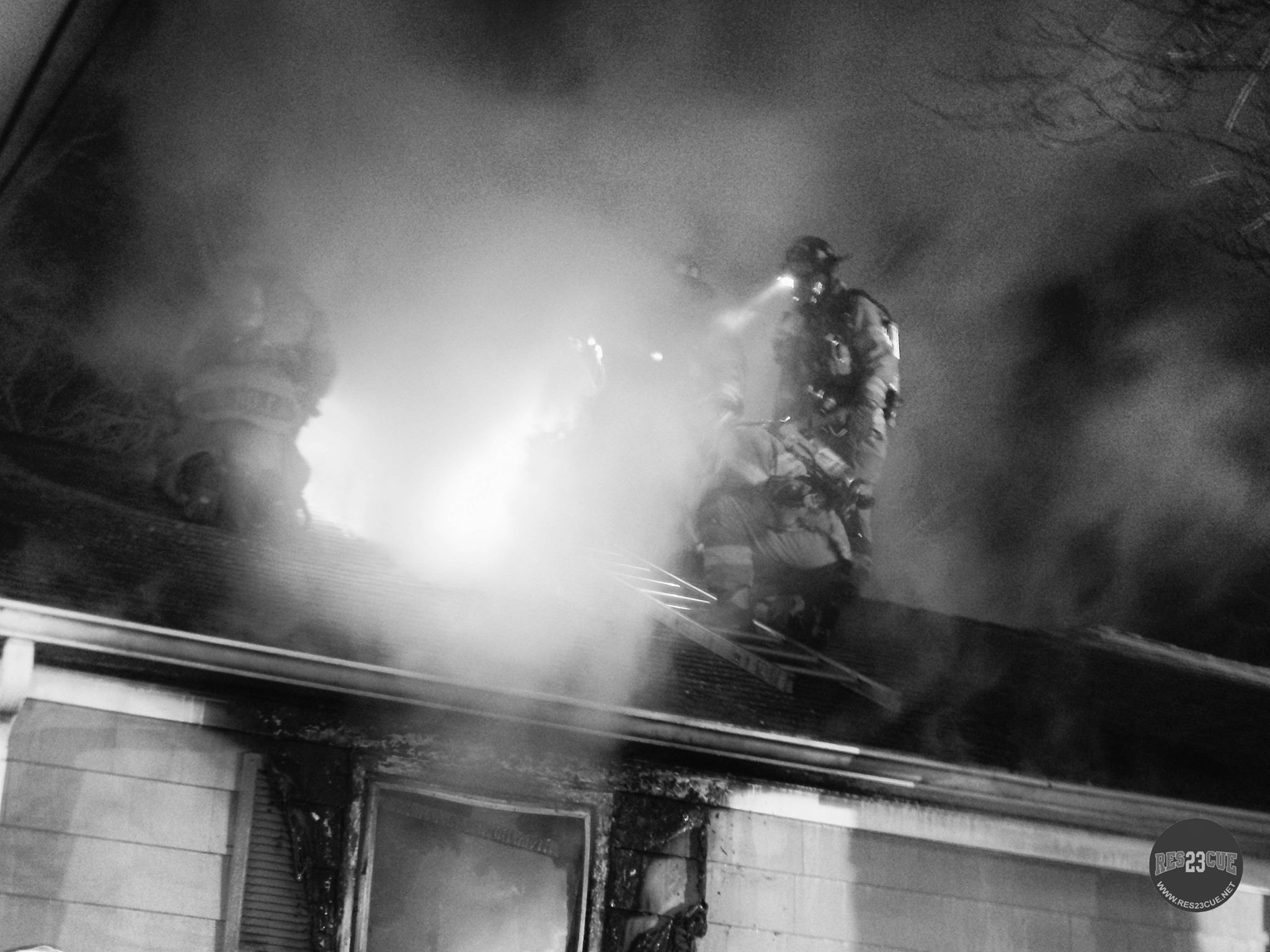 11/18/2015  362 Brimfield Road - House Fire  Firefighters ventilating the roof on the A side of the structure