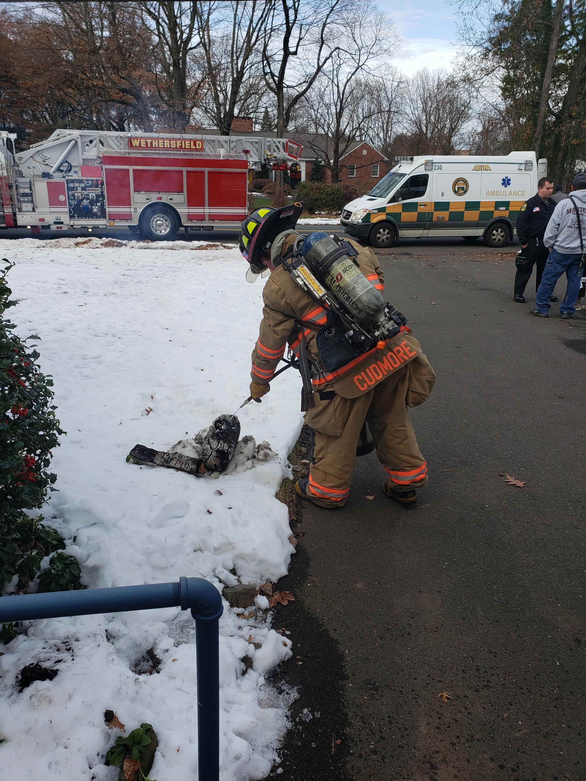 Highland St Fireplace Malfunction