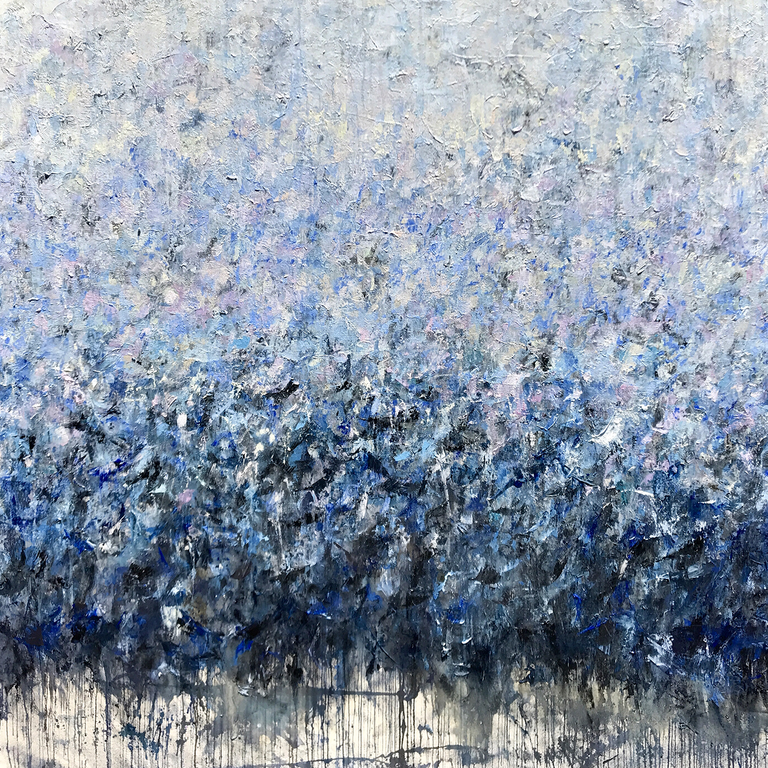 """SOLD • The Cherry Orchard (murmuration) • 72x72"""""""