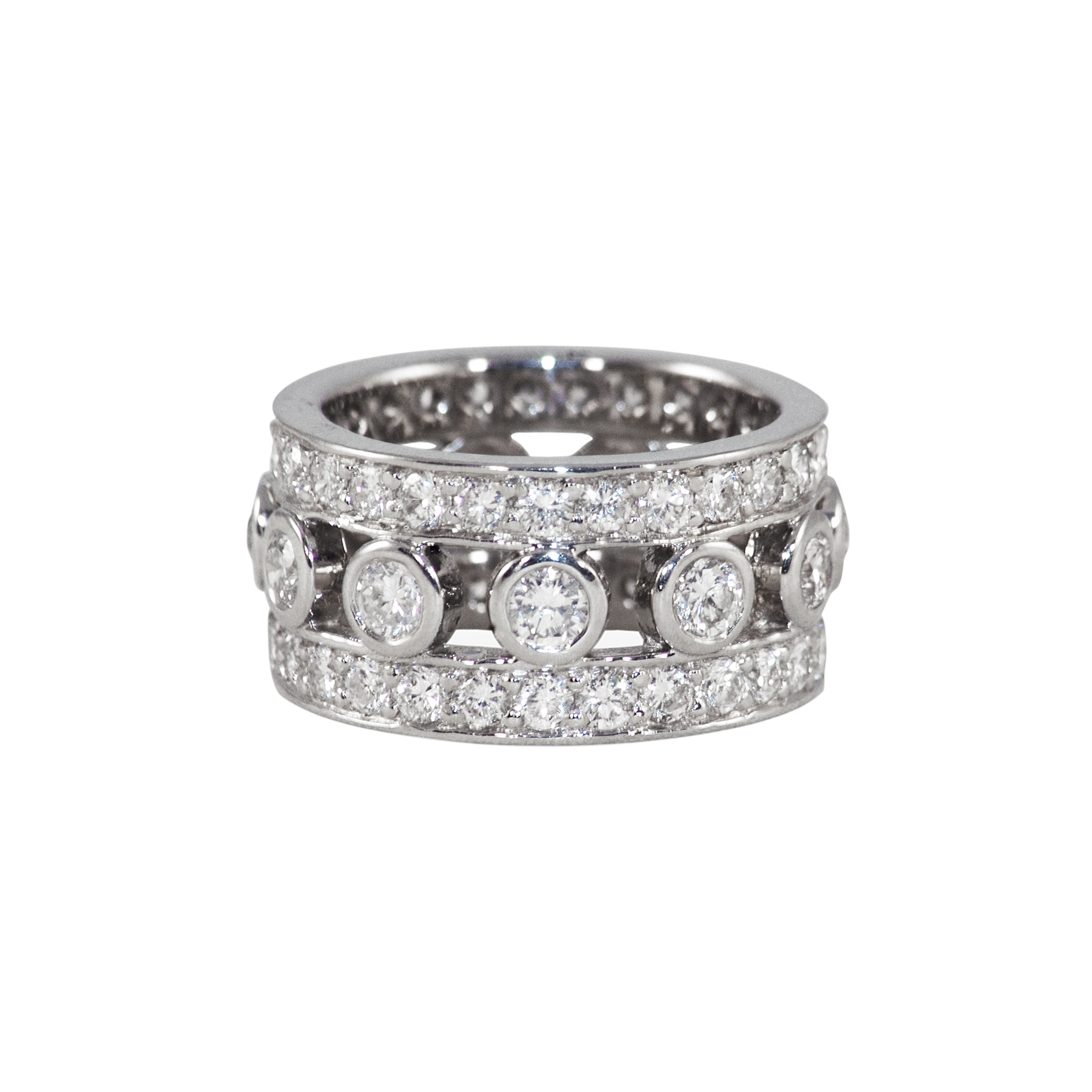 Once Loved, Loved again    Platinum & Diamond Band         Designed with diamonds from customer's wedding bands