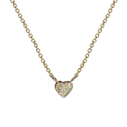 Custom 14k Diamond heart Pendant