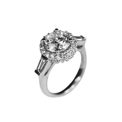 Custom Platinum & Diamond Engagement ring