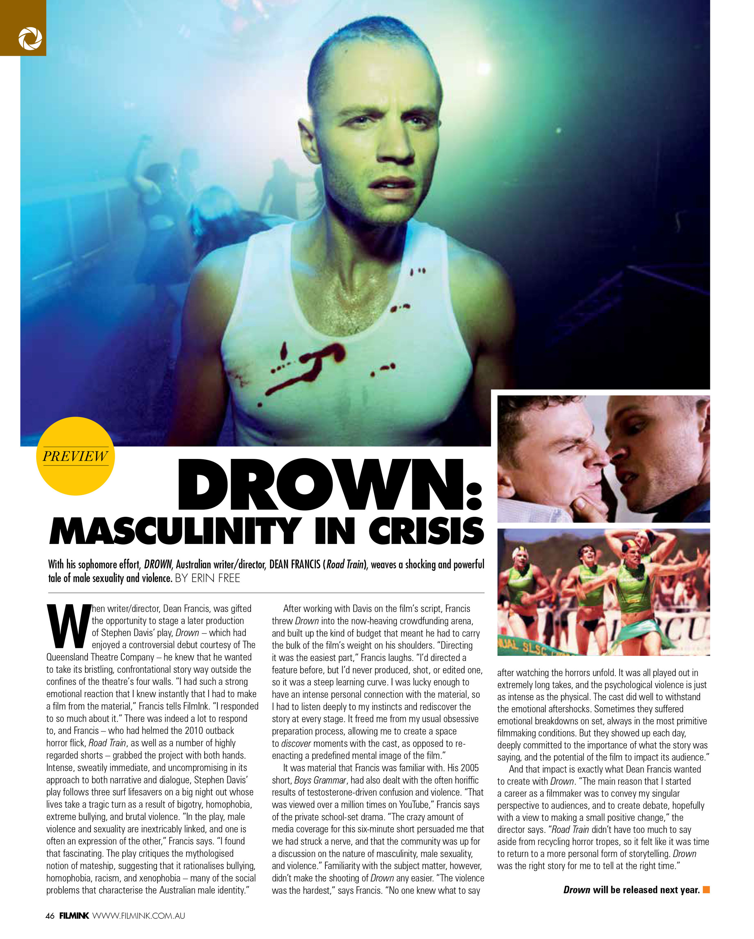 FilmInk previews DROWN  (December 2014)