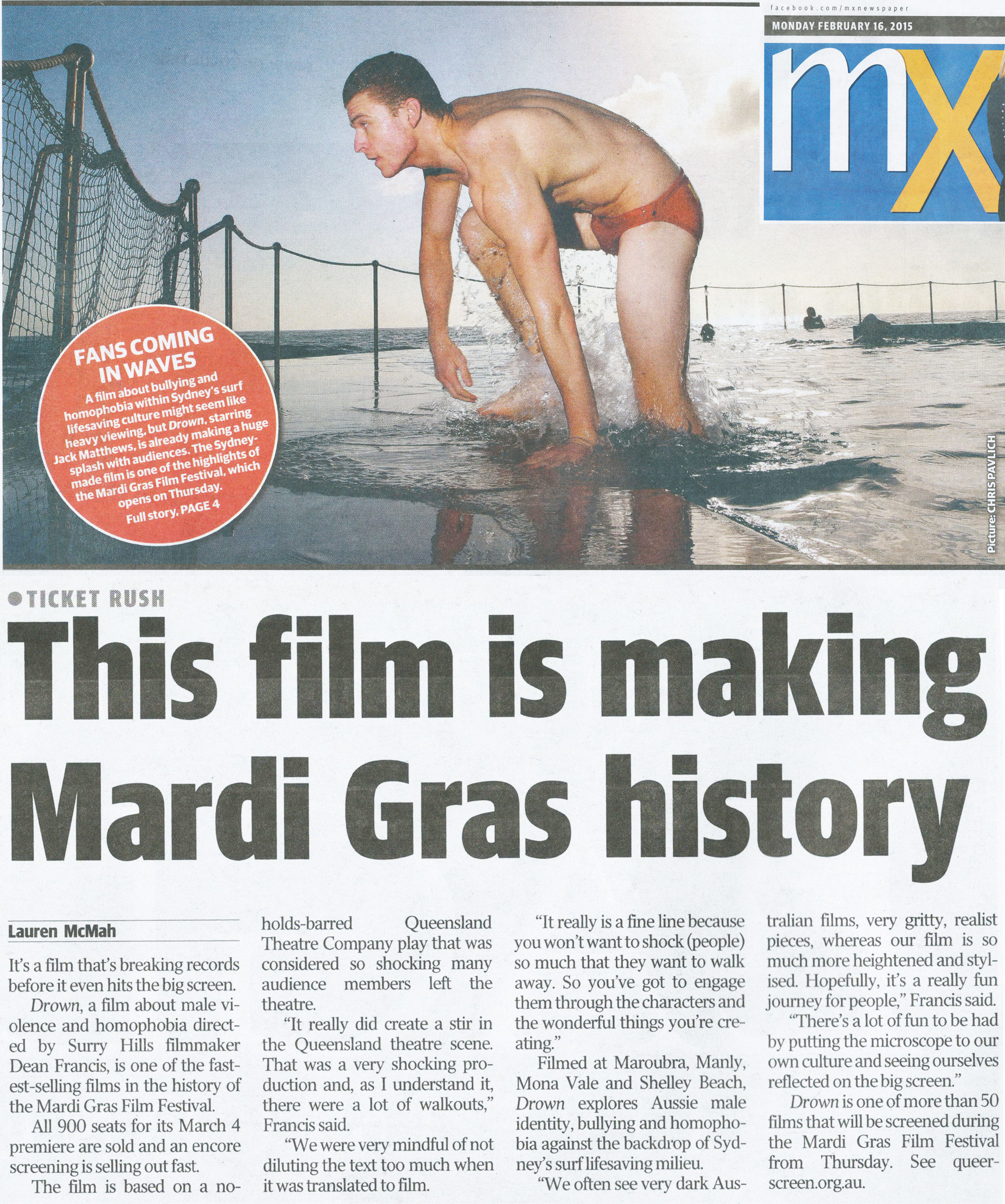 MX Newspaper (front cover)