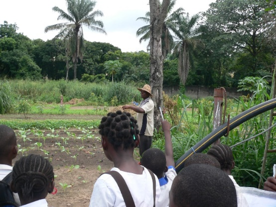 Students observing and participating on a recent field trip to a local monestary