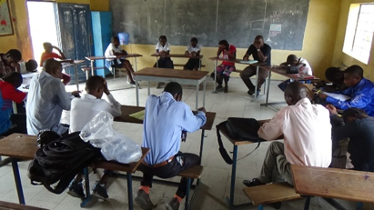 Students from Lukunga and College des Savoirs