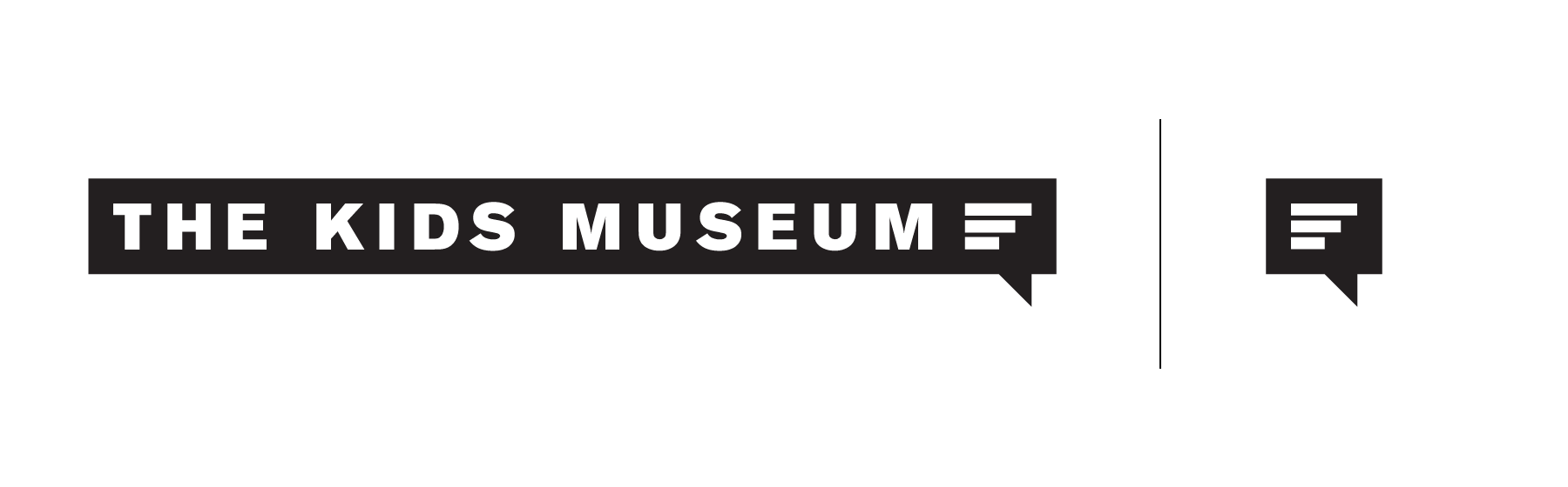 The logo was created with growth and communication in mind. The bars cascading upwards are growing in size, demonstrating the concept ofgrowth, while its container, a speech box, is a metaphor for the communication that takes place inside the museum.