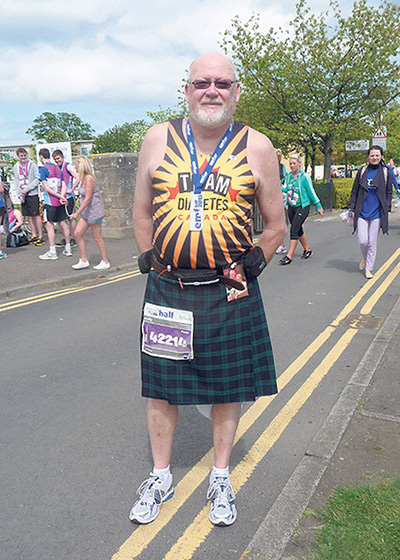 After being diagnosed with type 2 diabetes, Harry Flint quit smoking, lost 100 pounds and completed 25 marathons and half-marathons with Team Diabetes.   SUPPLIED