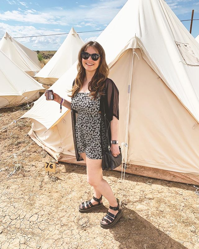 Would not have survived tent life without platform sandals and cold brew. #formarcosanti #glamping #coldbrewislife #tbt