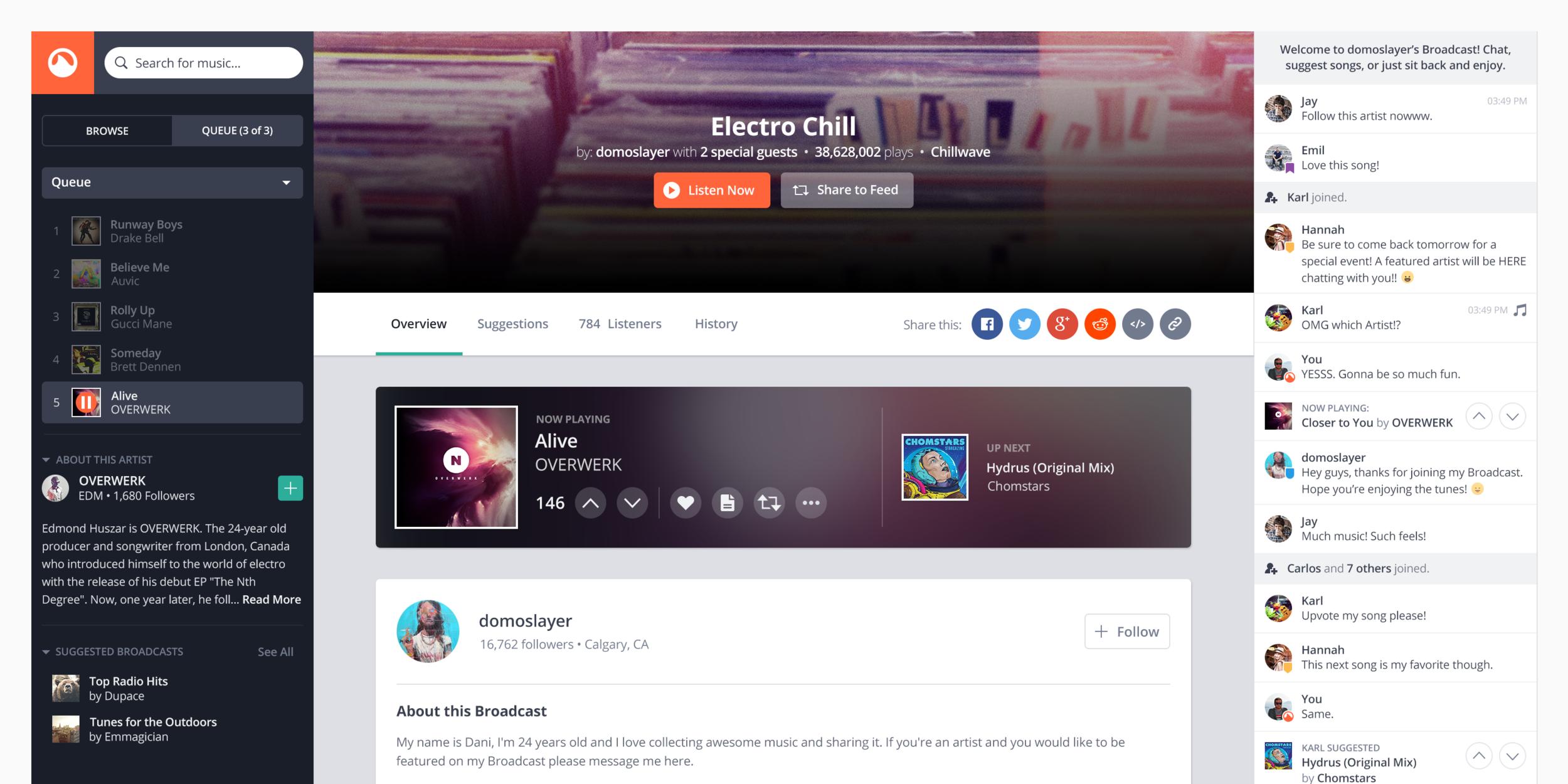 Grooveshark - Music Streaming ServiceUX, Visual Design