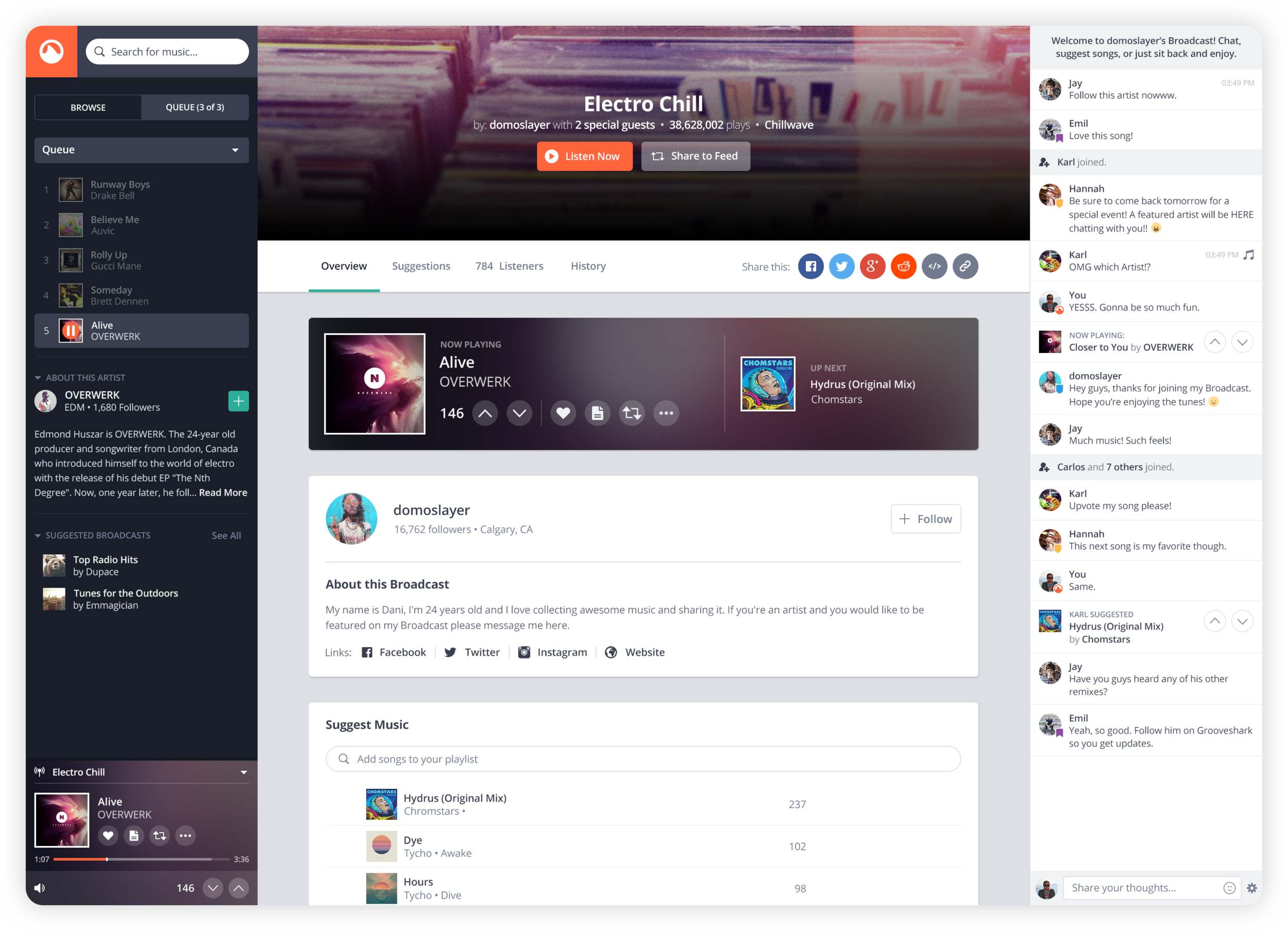 Grooveshark - UI/UX Design for Web-based Music Streaming Platform