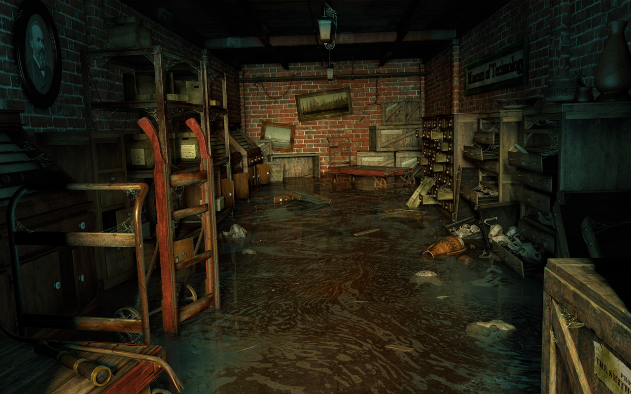 Smithsonian Underground Storage Room: Dark