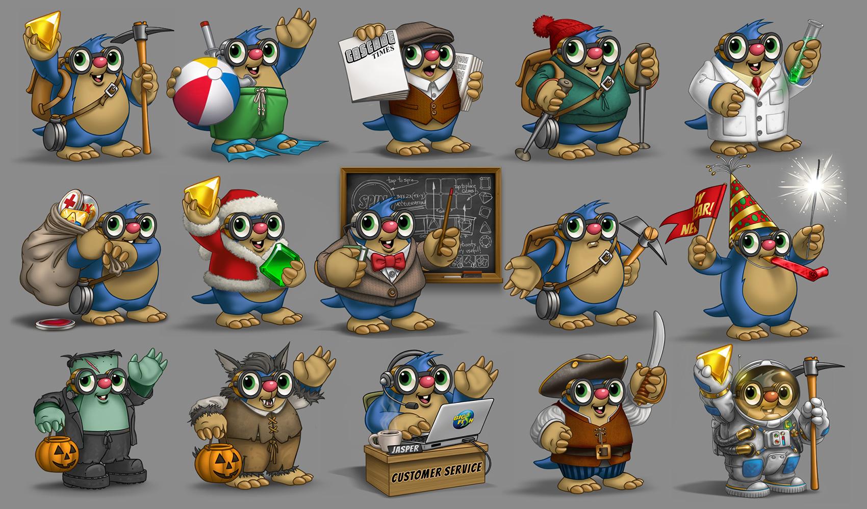 """""""Jasper the Mole"""" Game Mascot"""