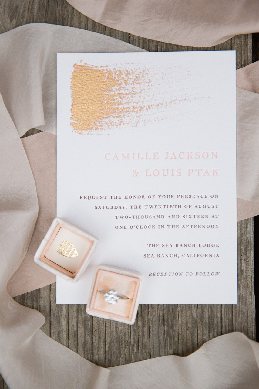 Minted.com Wedding Invitations with Added Touch from the Bride
