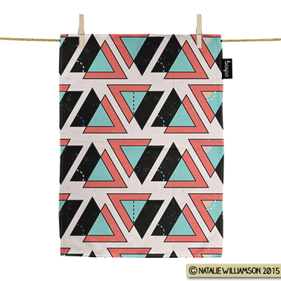 Geometric_Triangles_Teatowel_Natalie_Williamson