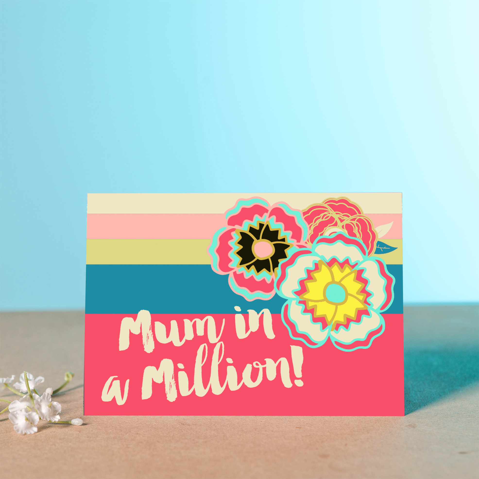 Mum in a million card