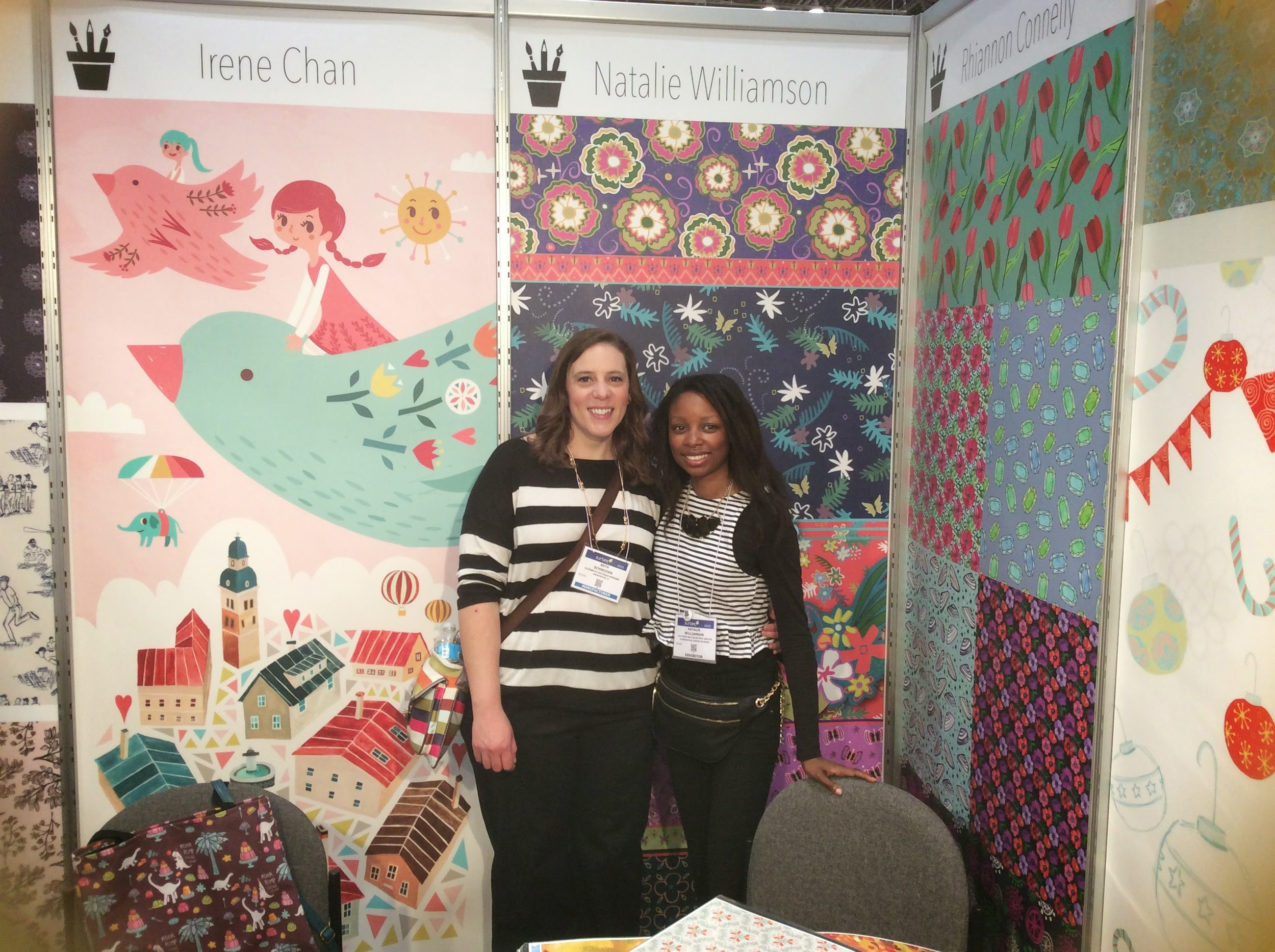 """I had the pleasure of meeting fellow ABSPD student Beth ofElizabeth Victoria Designs. It's the first time we've met """"in real life"""" :)"""