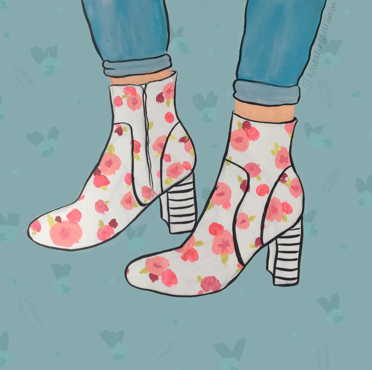 These Boots - Acrylic, ink and digital