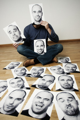 Man with many faces