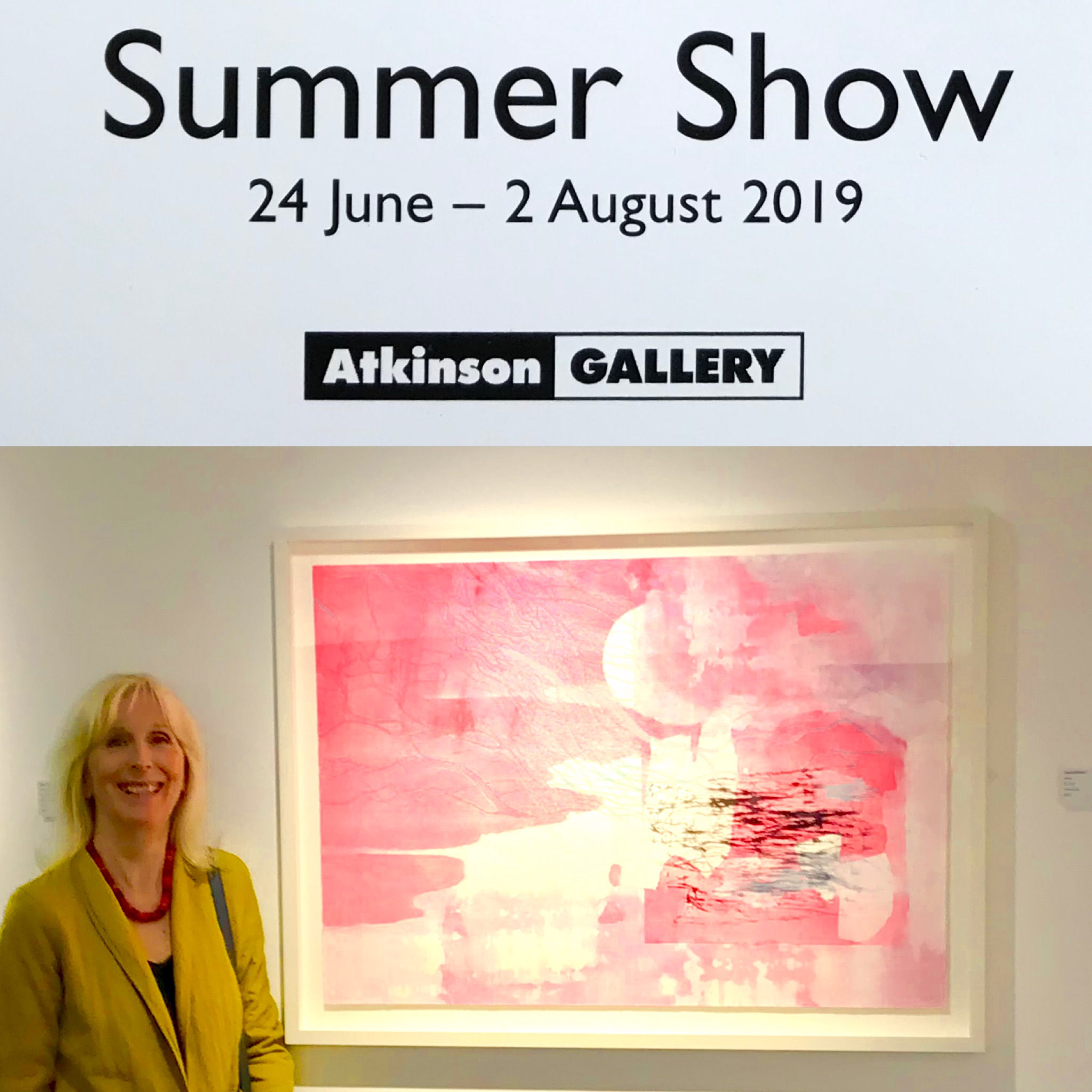 My painting 'Flow' showing at Atkinson Gallery. Delighted it has been bought for their collection.