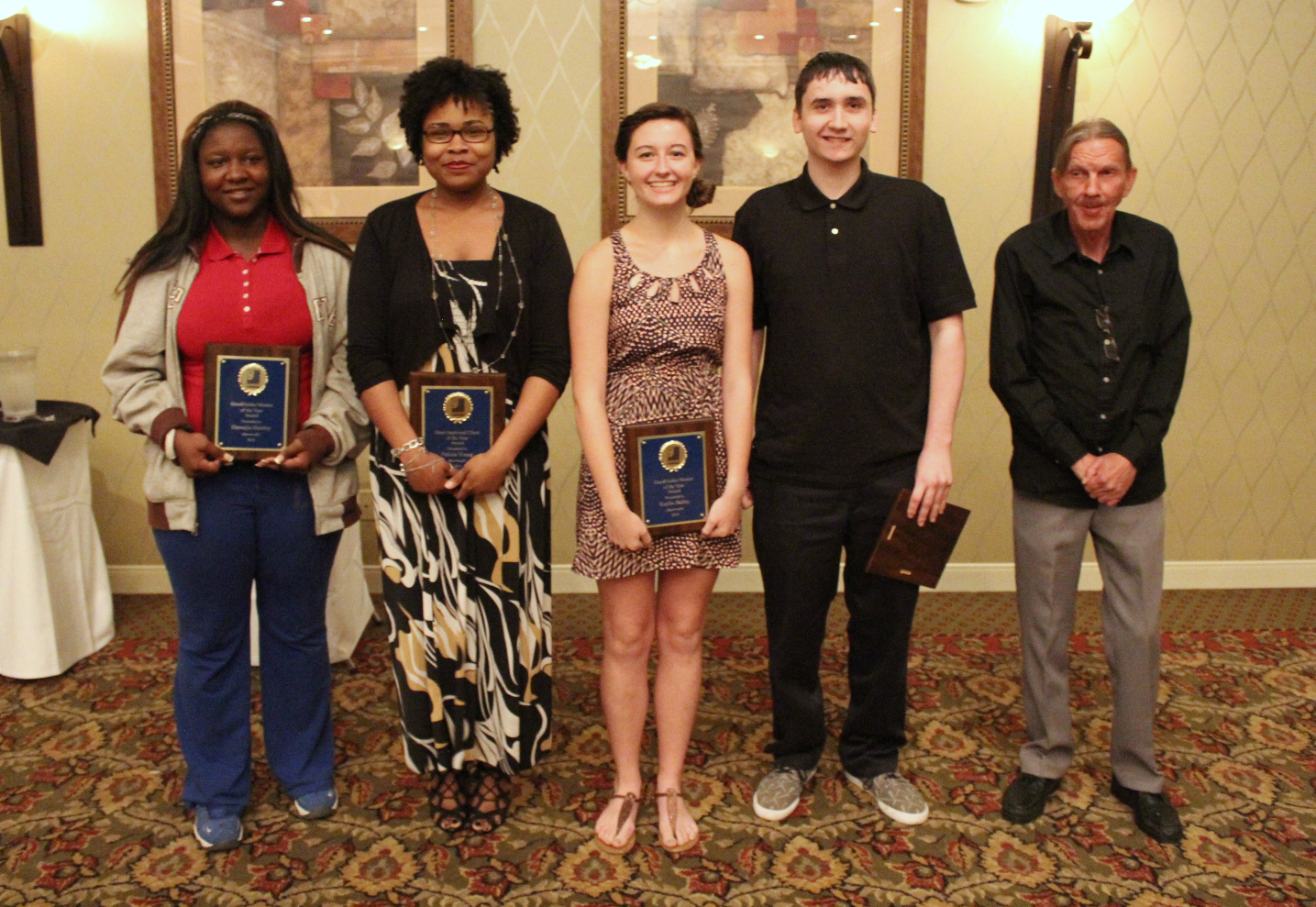GoodGuides Mentee of the Year: Danasjia Horsley; Most Improved Client of the Year: Felicia Young; GoodGuides Mentor of the Year: Kaylin Bailey; Skill Training Client of the Year: Landon Conner; Worker of the Year: Donald Alloway