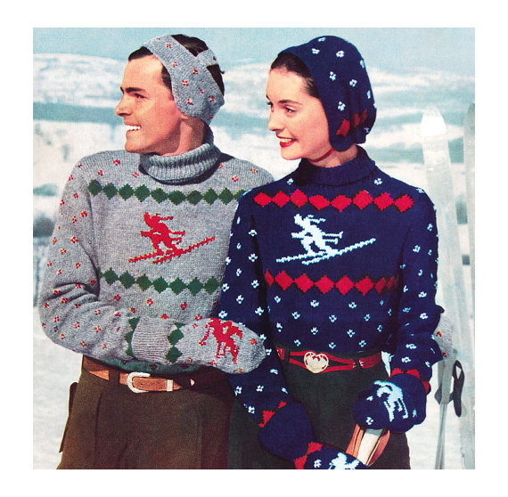 1950s Christmas  jumpers
