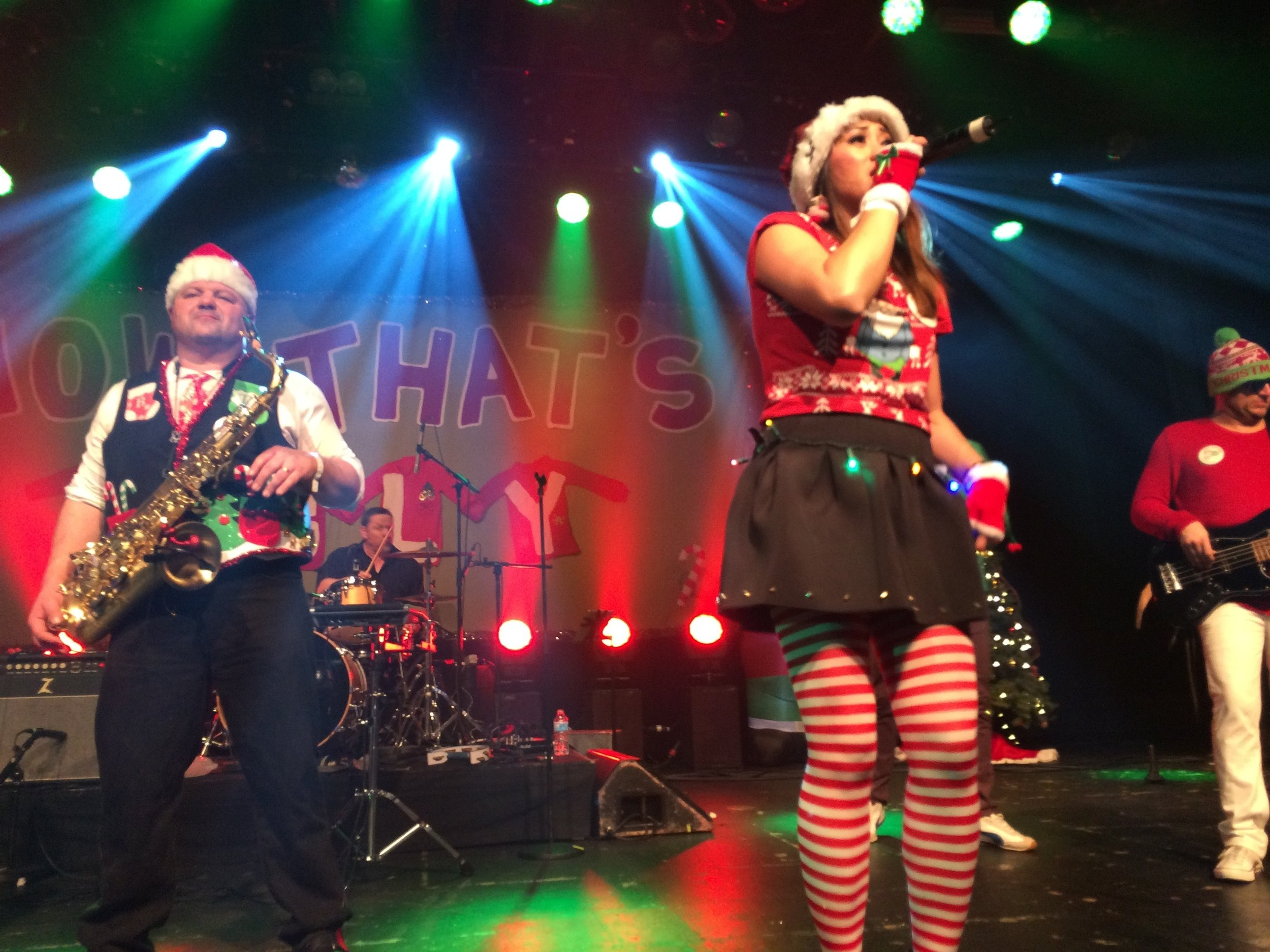 2014 performance during the 14th annual ugly Christmas sweater party at the  Commodore Ballroom